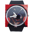 Black rubber stamp watch