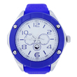 Blue silicone watch with 4 real screws